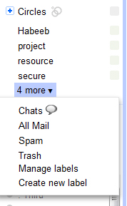 Gmail More Option