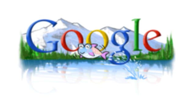 google 2004 earth day doodle