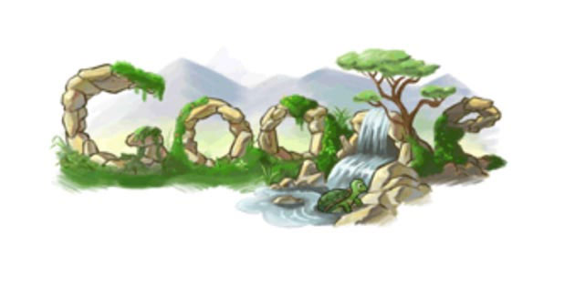 google 2008 earth day doodle