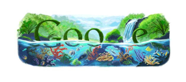 google 2009 earth day doodle