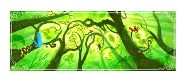 google 2010 earth day doodle