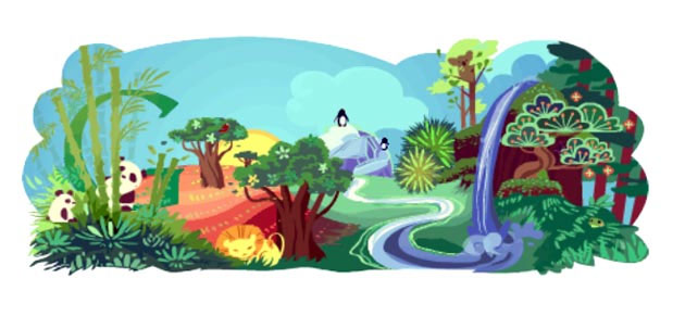 google 2011 earth day doodle
