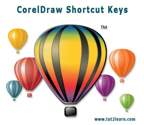 corel draw shortcut keys