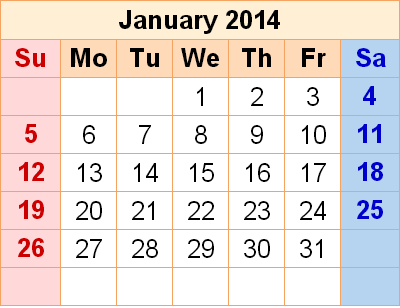 Important dates in january