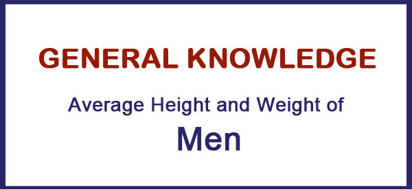 Average Height Weight of the Men