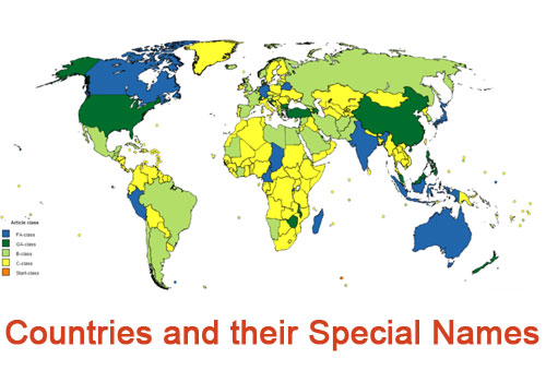 countries and their special names