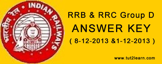 rrb & rrc answer key