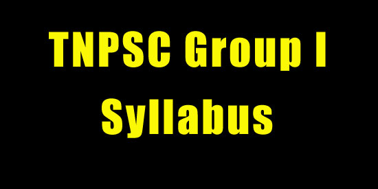 tnpsc-group-1-syllabus