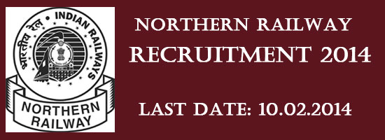 northern railway recruitment 2014