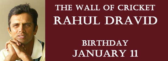 the wall of cricket rahul dravid birthday