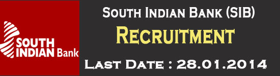 South Indian Bank (SIB) Recruitment 2014 – 200 Vacancy
