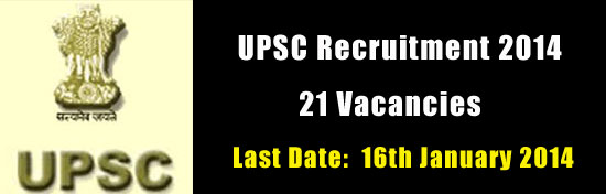 UPSC Recruitment 2014