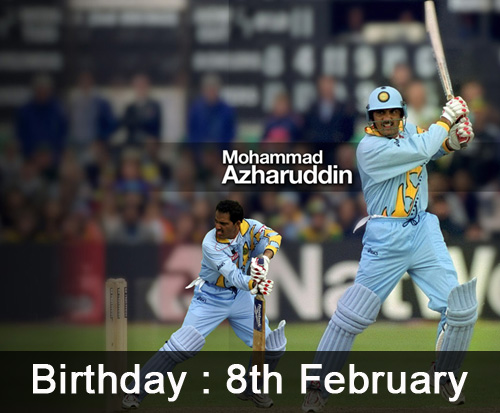Cricketer Mohamed Azharuddin Birthday