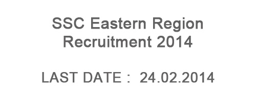 SSC Eastern Region Recruitment