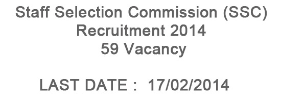 SSC Recruitment 2014