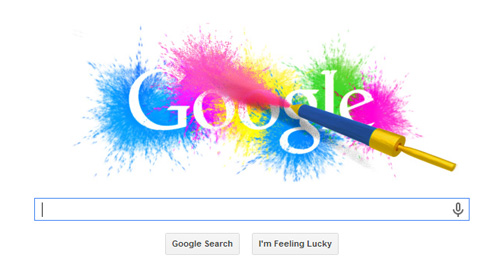 Holi Festival – Google Doodle wishing you