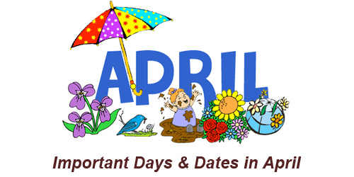 Important Days and Dates in April