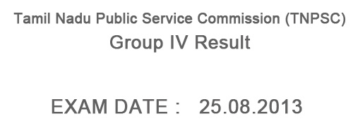 TNPSC Group IV Result 2014