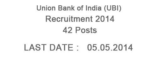 Union Bank of India Recruitment 2014