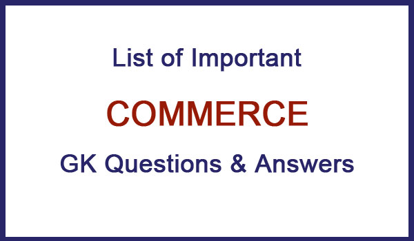 commerce questions and answers