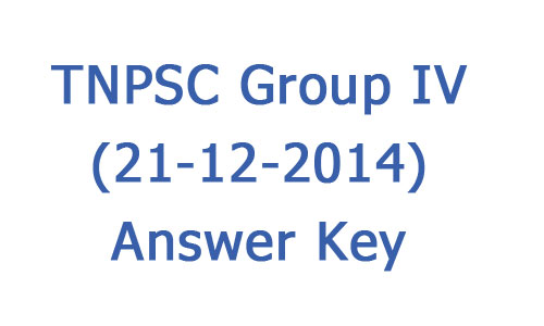 TNPSC group4 answer key