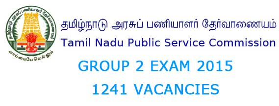 TNPSC Group 2 Exam 2015