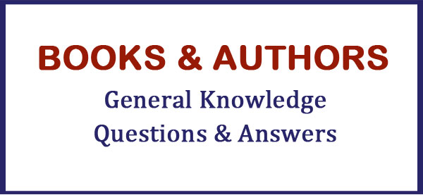 books authors gk questions answers
