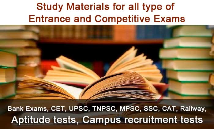 competitive examinations study materials