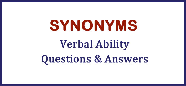 synonyms verbal ability questions answers