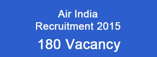 Air India Recruitment 2015