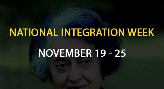 National Integration Week