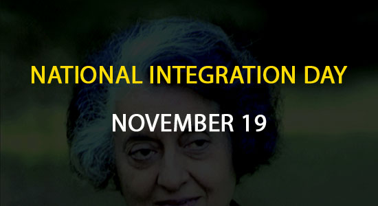National Integration Day