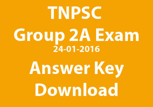 tnpsc group 2a exam answer key DOWNLOAD