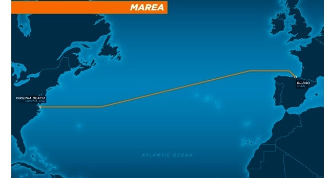 MAREA submarine cable route