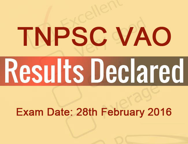 TNPSC VAO Exam 2016 Result