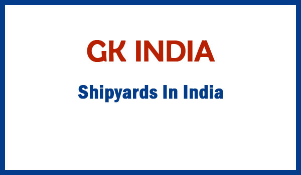 Shipyards In India